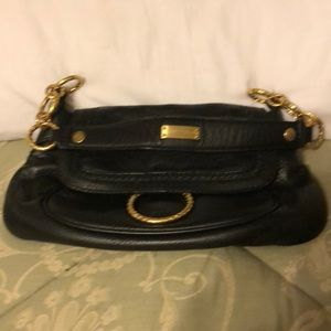 Small purse black leather new purse black